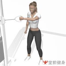 拉力器侧平拉(单臂)