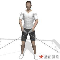 拉力器侧平举(双臂)