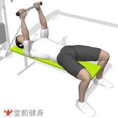 仰卧拉力器双臂屈伸