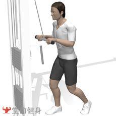 拉力器屈臂下压