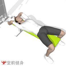拉力器仰卧曲臂上提