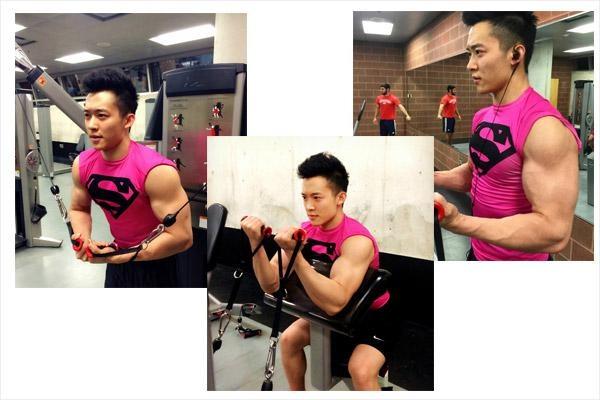 """健身是把""""整形刀"""" 100斤的瘦子逆袭变肌肉型男"""