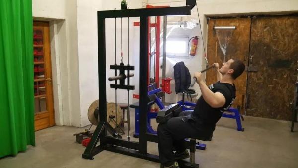 高位下拉的五种变换训练方式。