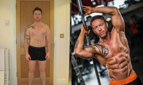 英肥胖男3周减38斤 12周练成健美身材