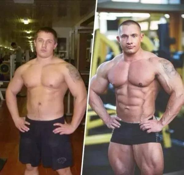健身前后对比,不多说,你懂的